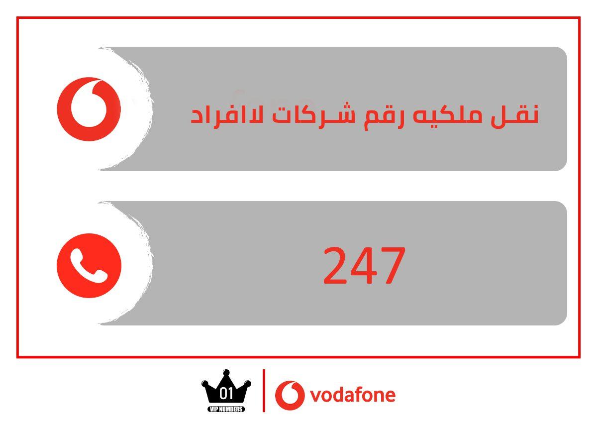 طريقة نقل ملكية خط الشركات لاافراد من فودافون مصر